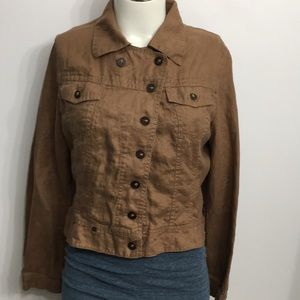 Sandwich 100% Linen Brown Light Jacket 38 Medium